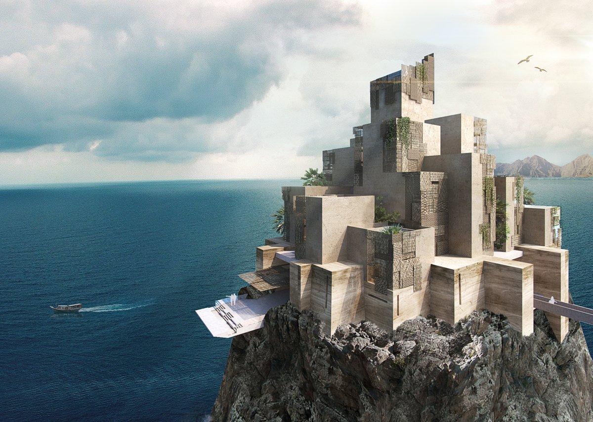 Fontès architecture - oman jour rocher